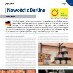 Nowości z Berlina