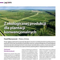 Zekologicznej produkcji...